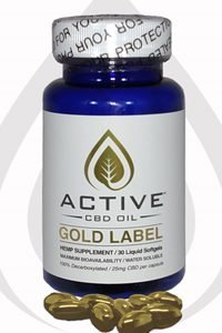 Discover CBD Active CBD oil – Gold 25%