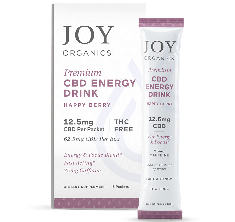 Joy Organics Premium CBD Energy Drink